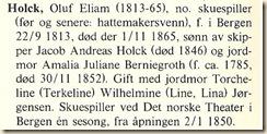 Holck, Oluf Eliam excerp Biografisk Skuespillerleksikon