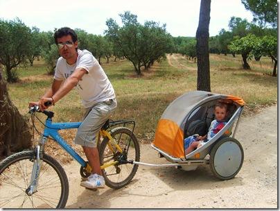 Aj in bicicletta a porquerolles