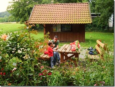 Area picnic lungo la vecchia ferrovia di Rinteln