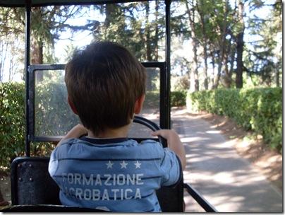 Aj a bordo di un auto f'epoca a Minitalia leolandia park