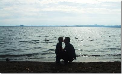Aj e Babbogiramondo sul lago di Bolsena