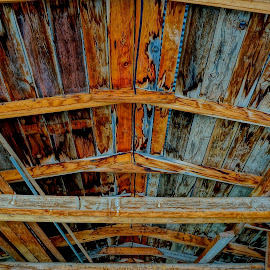 Garage Ceiling by Barbara Brock - Buildings & Architecture Other Interior ( wood ceiling, rustic ceiling, garage ceiling, rustic interior ceiling )