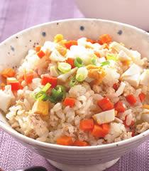 喜生米漢堡分享米食料理-鹹蛋肉末飯