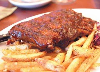 公益路美食-梅爾森BBQ豬肋排