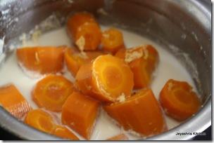pressure cook carrots