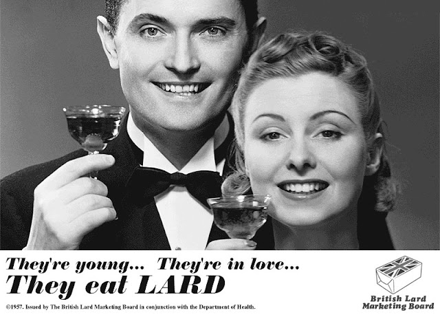 They eat LARD - They are young - they are in love.