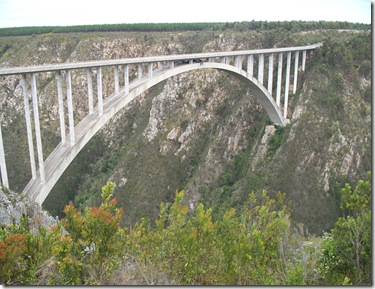 Bloukrans Bridge - see the bungy line