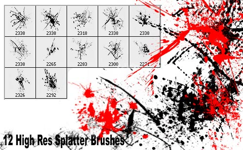 12 New High Res Photoshop Brushes