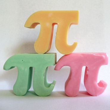 soap shaped like the greek letter pi
