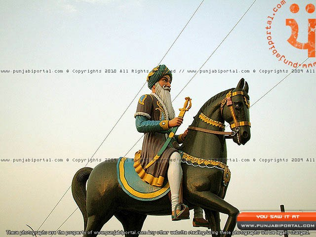 Hari Singh Nalua Sikh Sculpture in Gurudwara Mehtiana Sahib Near Moga