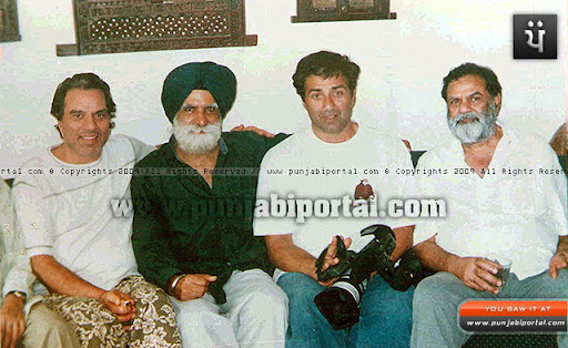 Author with Dharminder Deol and Sunny Deol