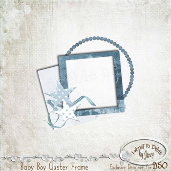 Baby Boy CLuster Frame PREVIEW
