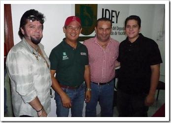 Julio Amer, José Novelo, Mario Peniche y Ricardo Franco 2010