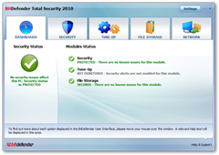screenshot bitdefender 2010