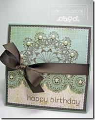 Happy Birthday Doily