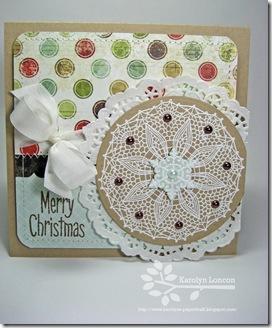 Merry Christmas Doily