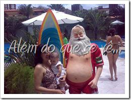 com o Papai Noel surfista do Sheraton, Rio de Janeiro
