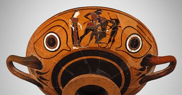Attic Kylix: eye-cup, ca. 530 BC.; black-figure
