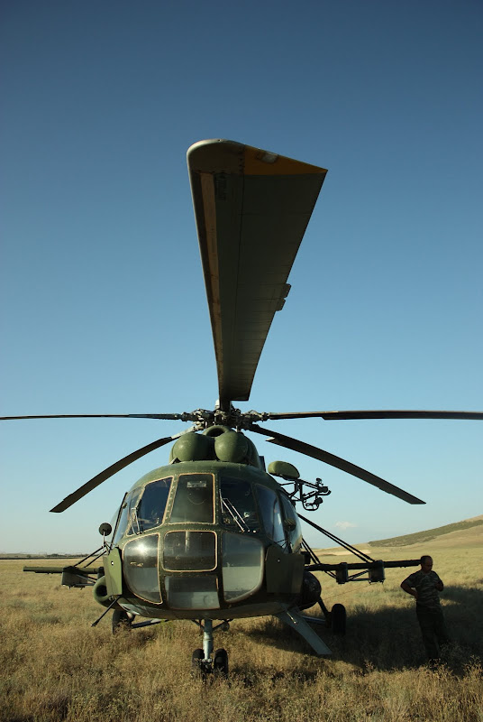 Our Parachute jump Helicopter in the Arzni Military Airport