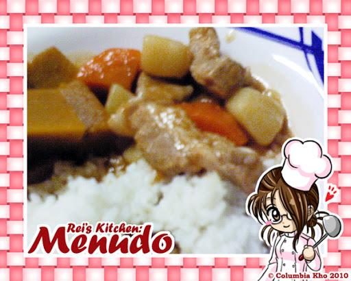 rei's kitchen menu 001 - menudo