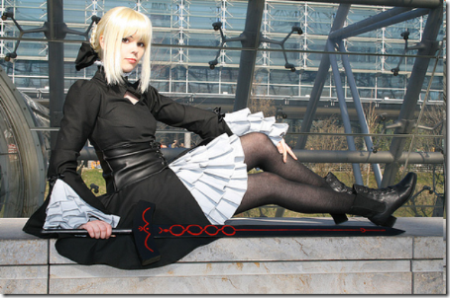 fate/hollow ataraxia cosplay - dark saber