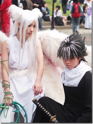 yu yu hakusho cosplay - youko kurama and hiei Oh my…