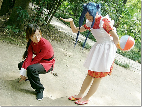 ranma 1/2 cosplay - saotome ranma and shampoo