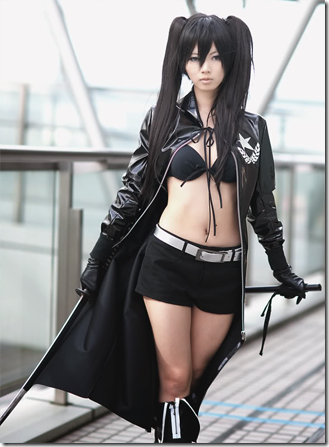 vocaloid cosplay - black rock shooter - kuroi mato 02