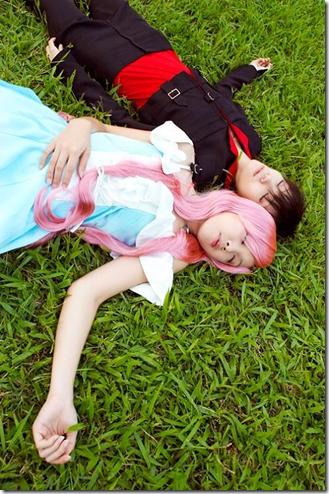 gundam seed destiny cosplay - kira yaamto and lacus clyne