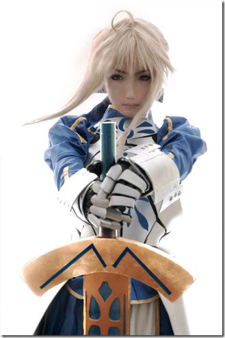 sate/stay night cosplay - saber 03