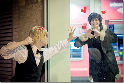 durarara!! cosplay - heiwajima shizuo and orihara izaya by kosikiryu and lindzar
