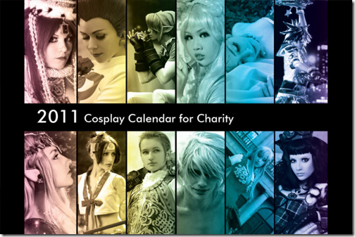 2011 cosplay calendar for charity