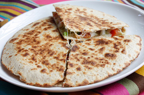 Shrimp Quesadillas with Tomato Avocado Salsa | Skinnytaste