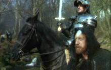 "Nigel Terry as Arthur and Nicol Williamson as Merlin in ""Excalibur"""