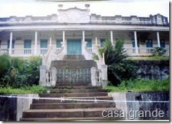 Casa grande da Usina Serro Azul antes da desapropriação