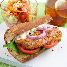 Cajun Catfish Po' Boy & Cooling Vegetable Salad