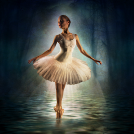 Moonlight Dance by Marie Otero - Digital Art People ( model, creative, female, fine art, ballet, ballerina, digital, composite )