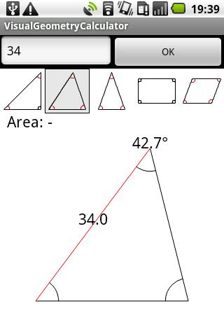 Visual geometry calculator