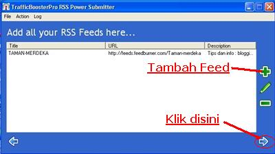 Feeds yang siap disubmit