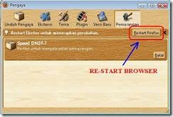 Restart Firefox