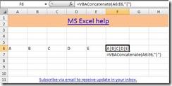 Microsoft Excel, VBA Concatenate