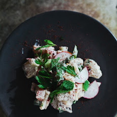 ... Salad With Tahini-Buttermilk Dressing, Chickpeas, Sumac, And Pine Nuts