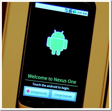 Android 2.1 Startbildschirm