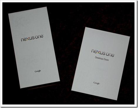 Lieferkartons Nexus One und Docking Station