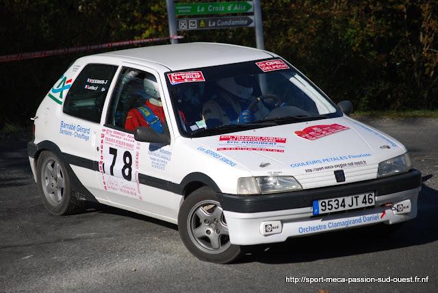 Franck LORILLER / Jérôme VIERSOUS - 106 XSI FA5 Rallye%20de%20Sarlat%20P%C3%A9rigord%20Noir%202009%20550