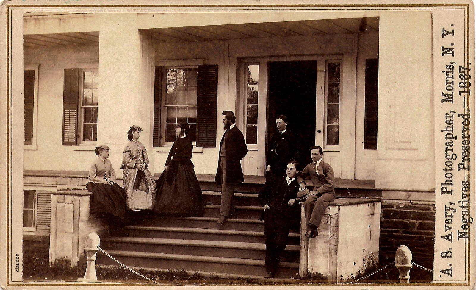 Carte De Visite New York Scene 1867