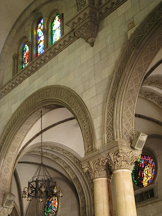 interior arches of the Manila Cathedral