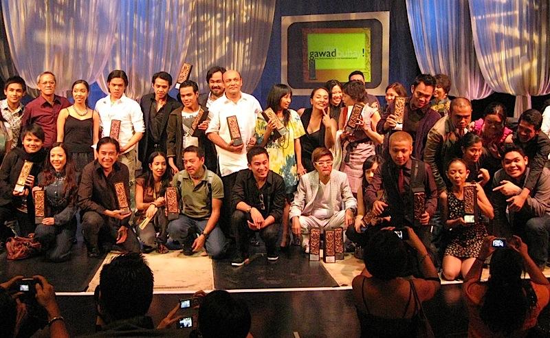 winners of the 2009 Gawad Buhay!