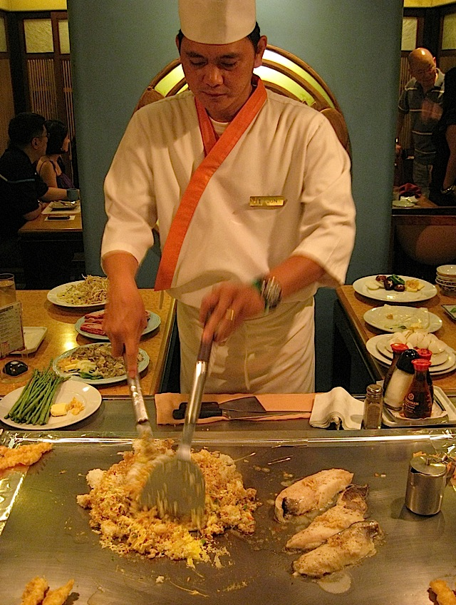 teppan chef at Kimpura Japanese restaurant