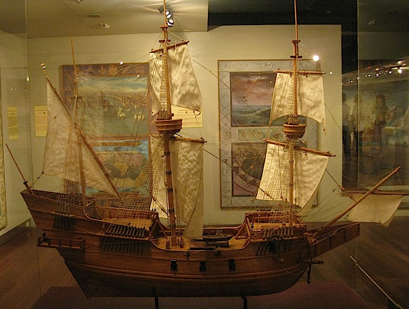 model of the 16th century galleon San Diego